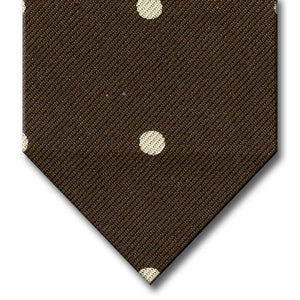Brown with White Dot Pattern Tie