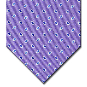 Lavender with Blue Paisley Pattern Tie