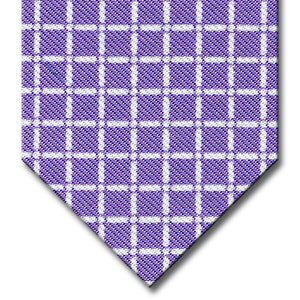 Lavender with White Check Tie