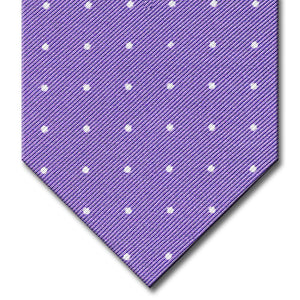 Lavender with White Dot Pattern Tie