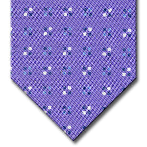 Lavender with Blue Geometric Pattern Tie