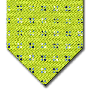 Green with Blue Geometric Pattern Tie