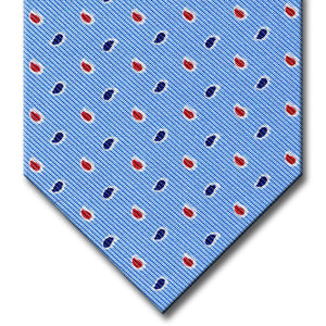 Blue with Red Paisley Pattern Tie