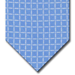 Blue with White Check Tie
