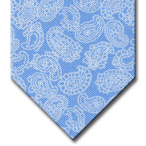 Blue with White Paisley Pattern Tie