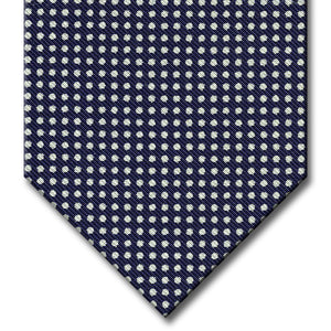 Navy with White Dot Pattern Tie