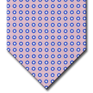 Pink with Blue Dot Pattern Tie