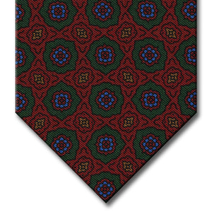Red and Green Medallion Tie