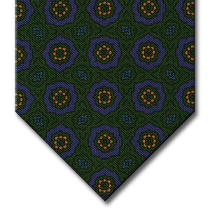 Green and Blue Medallion Tie