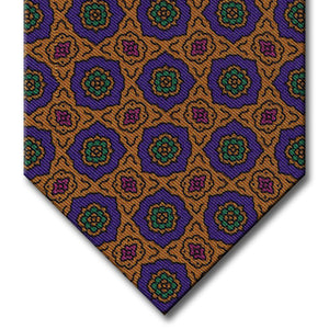 Gold and Purple Medallion Tie