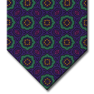 Purple and Green Medallion Tie