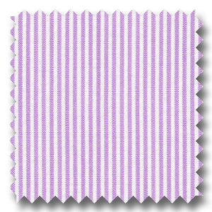 Lavender Stripe 2Ply Broadcloth - Custom Dress Shirt