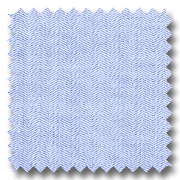 Blue Solid 200 2Ply Broadcloth - Custom Dress Shirt