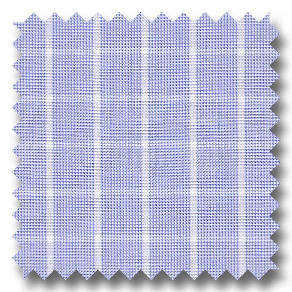 Blue Check 2Ply Broadcloth - Custom Dress Shirt