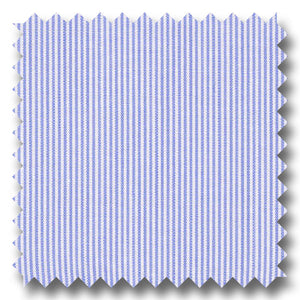 Medium Blue Mini Stripe 200 2Ply Broadcloth - Custom Dress Shirt