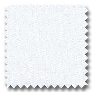 White Mini Herringbone 200 2Ply - Custom Dress Shirt