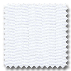White 200 2Ply Herringbone - Custom Dress Shirt