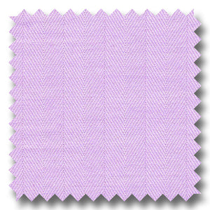 Lavender 200 2Ply Herringbone Broadcloth - Custom Dress Shirt