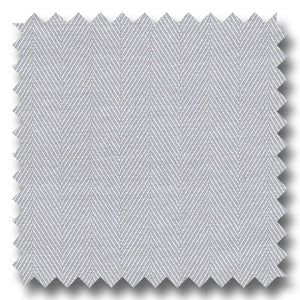 Light Gray 200 2Ply Herringbone Broadcloth - Custom Dress Shirt