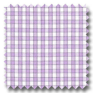 Lavender and Black Check 2Ply Broadcloth - Custom Dress Shirt