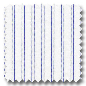 Dark Blue Stripe 2Ply Broadcloth - Custom Dress Shirt