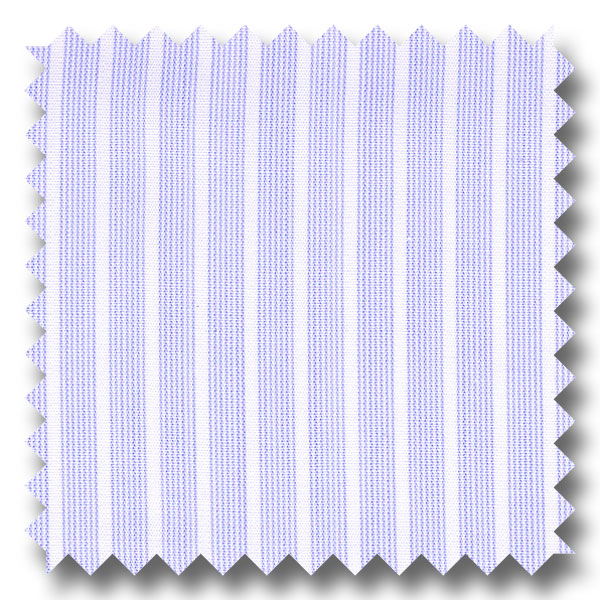 Medium Blue Stripe 200 2Ply Broadcloth - Custom Dress Shirt