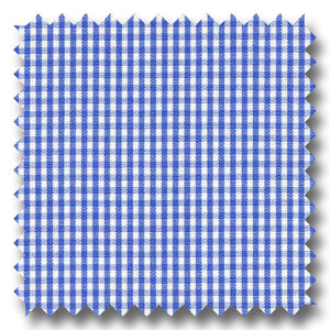 Dark Blue Check 2Ply Broadcloth - Custom Dress Shirt