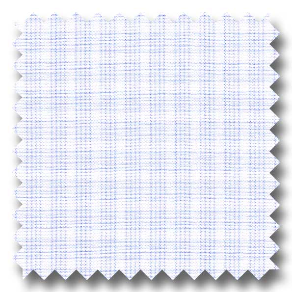 Light Blue Check 2Ply Broadcloth - Custom Dress Shirt