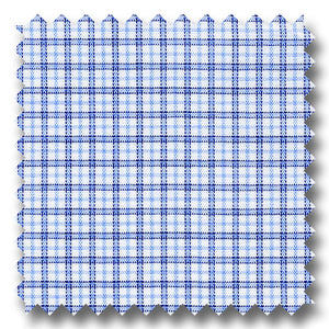 Blue and Navy Check 170 2Ply Broadcloth - Custom Dress Shirt