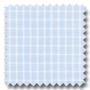 Light Blue Check 200 2Ply Broadcloth - Custom Dress Shirt