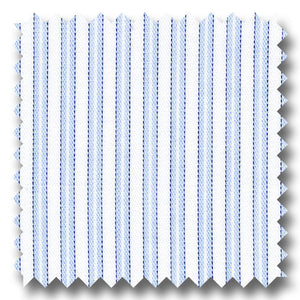 Blue Stripe 200 2Ply Twill - Custom Dress Shirt