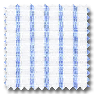 Light Blue Stripe 170 2Ply Linen - Custom Dress Shirt