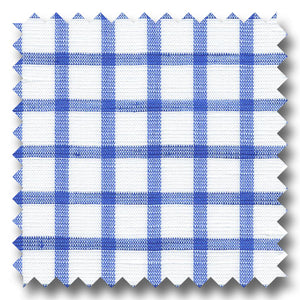 Dark Blue Check 170 2Ply Linen - Custom Dress Shirt