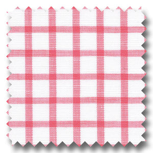 Pink Check 170 2Ply Linen - Custom Dress Shirt