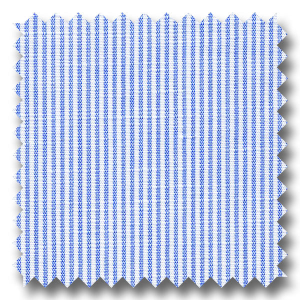 Blue Stripe 170 2Ply Linen - Custom Dress Shirt