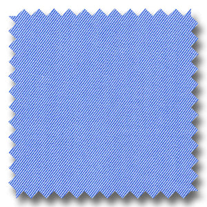 Blue Solid 140 2Ply Twill - Custom Dress Shirt
