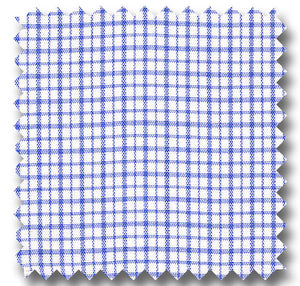 Medium Blue Check 2Ply Broadcloth - Custom Dress Shirt