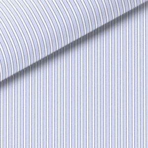 LT BLU / NAVY / WHITE STRIPE POPLIN DRESS SHIRT