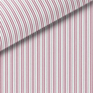 Burgundy Stripe Broadcloth Dress Shirt