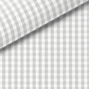 Gray Check Broadcloth Dress Shirt