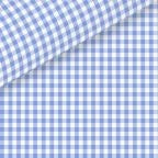 Blue Check Luxe Pinpoint Oxford Dress Shirt 100% Cotton 100/2ply