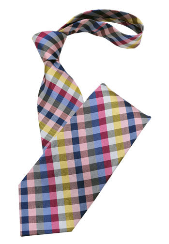 Light Multi Color Check Tie