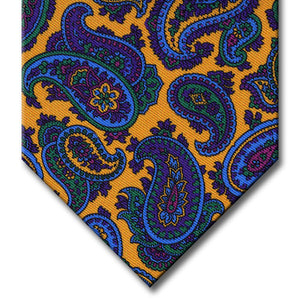 Gold with Purple and Blue Paisley Tie