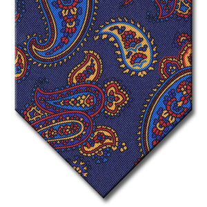 Navy with Blue and Red Paisley Tie