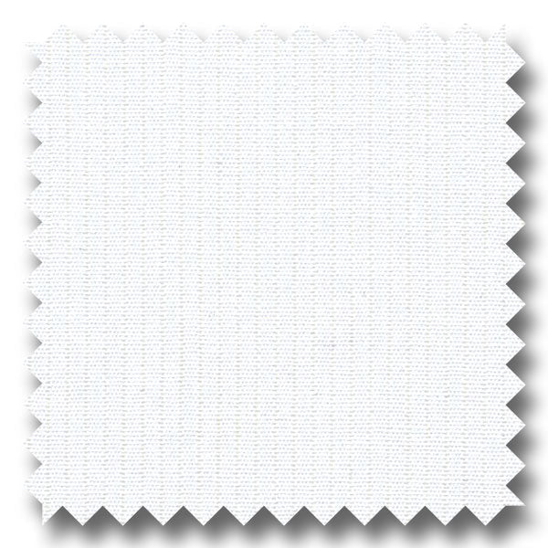 White Tone on Tone Stripe 2Ply Voile - Custom Dress Shirt