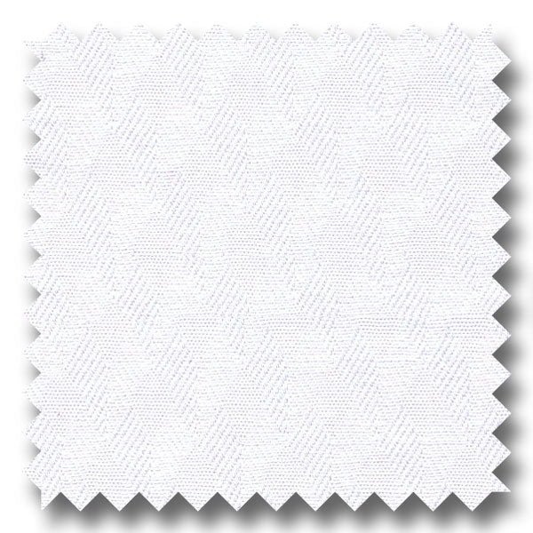 White Tone on Tone 2Ply Jacquard - Custom Dress Shirt