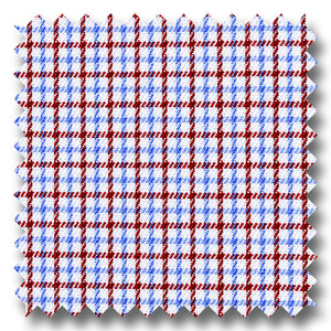 Red and Light Blue Check 2Ply Twill - Custom Dress Shirt