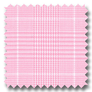Pink and White Check Twill - Custom Dress Shirt