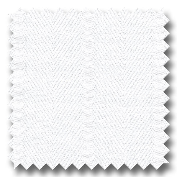 White Tone on Tone Stripe 2Ply Dobby - Custom Dress Shirt