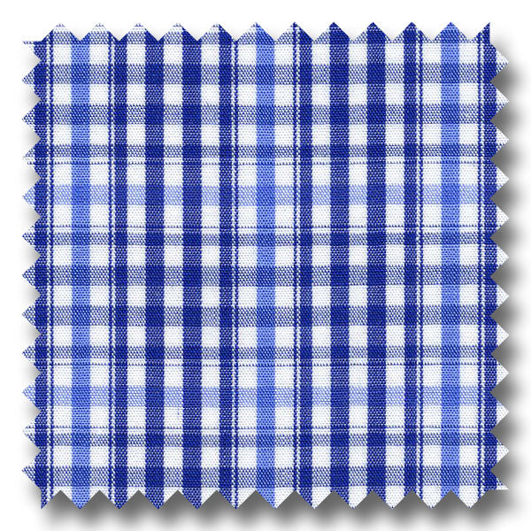 Navy and Blue Check Broadcloth - Custom Dress Shirt